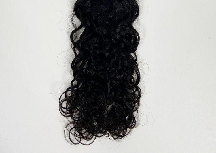 Photo de Rosa Hair Brazilian Natural Wave More Wave Hair Bundles Natural Color 1B 100% Human Hair Extensions