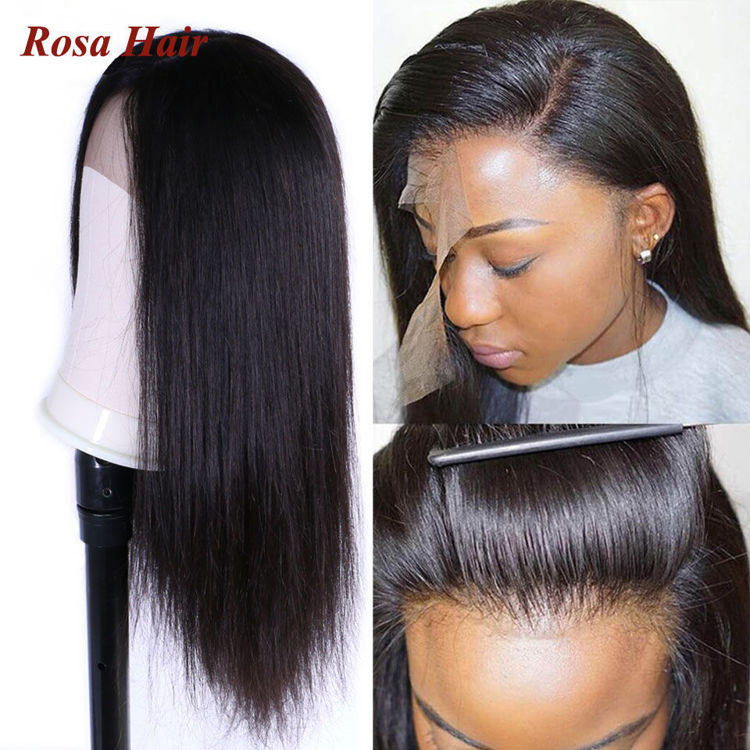 Picture of Rosa Hair Straight Front Wigs for Women Lace Front Human Hair Wigs Brazilian Straight T Part Lace Frontal Wig