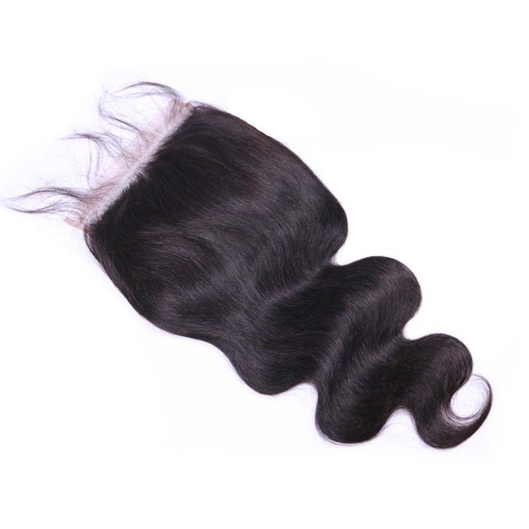 Picture of Rosa Hair 6x6 Transparent Lace Closure 100% Human Hair Closure Brazilian Hair Weave Body Wave Closure Free Part